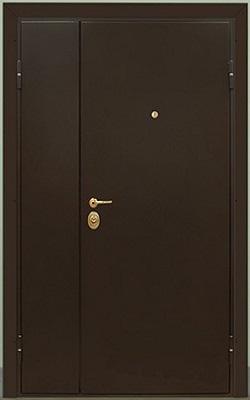 наружные металлические двупольные утеплённые двери