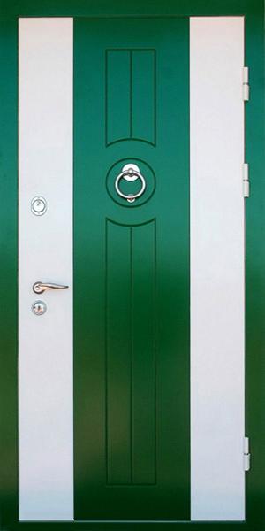 входные двери крашенные