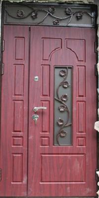 стальные двери с кованным декором