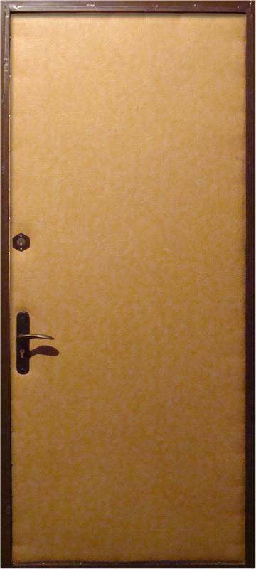 металлические двери покрытые кожзаменителем