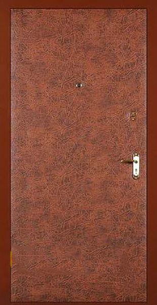 металлические дверь с искусственной кожей