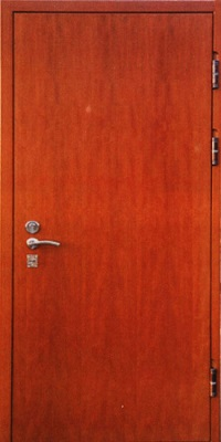 Отделка железной двери из ламината