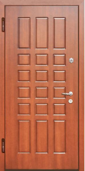 металлическая дверь входная мдф