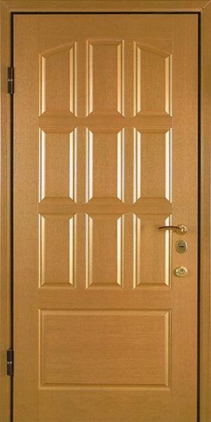 металлические двери мдф шпоном